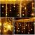 SMITHROAD LED Lichtervorhang Schneeflocke für Weihanchten Party IP44 24V Niederspannung mit 8 Modi 94er Lichterkette Weihnachtsbeleuchtung für Innen Außen Fenster Deko 3,6M x 1M Warmweiß - 3