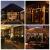 SMITHROAD LED Sternen Lichterkette Warmweiß Lichtervorhang mit Fernbedienung Timer 31V Niederspannung IP44 mit 8 Lichteffekte für Innen Außen Weihnachtsbeleuchtung Fenster Deko 2,2M x 1M(LxB) - 4