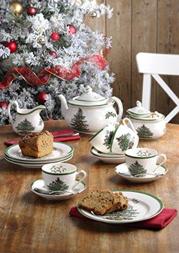 Spode-Tee-Tasse und Untertasse, Keramik, Mehrfarbig, 4Stück - 2