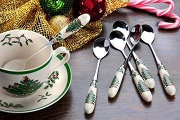 Spode-Tee-Tasse und Untertasse, Keramik, Mehrfarbig, 4Stück - 3