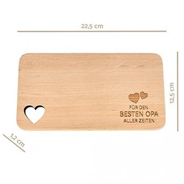 Spruchreif PREMIUM QUALITÄT 100% EMOTIONAL · Frühstücksbrettchen aus Holz · Brotzeitbrett mit Gravur · Geschenk für Familie · Holzbrettchen mit Herzausschnitt - 2