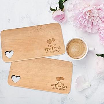 Spruchreif PREMIUM QUALITÄT 100% EMOTIONAL · Frühstücksbrettchen aus Holz · Brotzeitbrett mit Gravur · Geschenk für Familie · Holzbrettchen mit Herzausschnitt - 3
