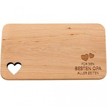 Spruchreif PREMIUM QUALITÄT 100% EMOTIONAL · Frühstücksbrettchen aus Holz · Brotzeitbrett mit Gravur · Geschenk für Familie · Holzbrettchen mit Herzausschnitt - 1
