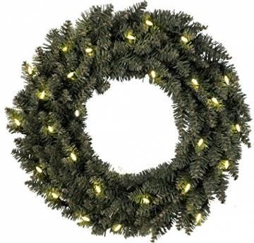 "Star LED-Tannenkranz""Calgary"", beleuchtet, 30 warmweiß Pisello LED outdoor, Trafo Karton, Durchmesser 50 cm 612-60 - 1"