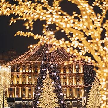Starker 2Stk 5M 50er LED Silberdraht Lichterkette,Fernbedienung 8 Modi IP65 Wasserdicht Lichterketten,TIMER Batterie Lichterkette,für Hochzeiten und Partys,Weihnachten-Warmweiß - 6