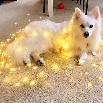 Starker 2Stk 5M 50er LED Silberdraht Lichterkette,Fernbedienung 8 Modi IP65 Wasserdicht Lichterketten,TIMER Batterie Lichterkette,für Hochzeiten und Partys,Weihnachten-Warmweiß - 9