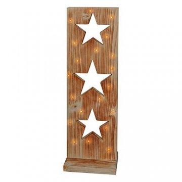 Sternenbrett Weihnachtsdeko Holzdeko handgemacht mit LED Beleuchtung - 1