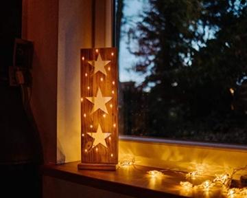Sternenbrett Weihnachtsdeko Holzdeko handgemacht mit LED Beleuchtung - 2