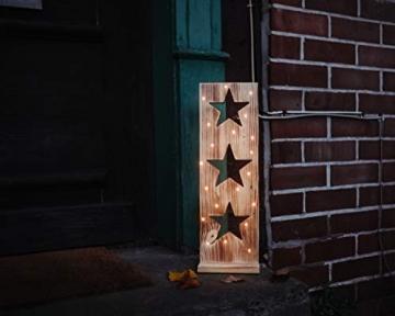 Sternenbrett Weihnachtsdeko Holzdeko handgemacht mit LED Beleuchtung - 3