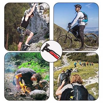 Survival Kit, Messer and Axt, Multifunktionswerkzeug 18-in-1 Multitoolaus Edelstahl Tragbar Hammer Jagdzubehör für Camping, Wandern, Notfall, Geschenke für Mann - 7