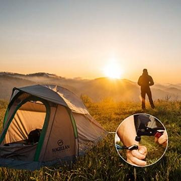Survival Kit, Messer and Axt, Multifunktionswerkzeug 18-in-1 Multitoolaus Edelstahl Tragbar Hammer Jagdzubehör für Camping, Wandern, Notfall, Geschenke für Mann - 8
