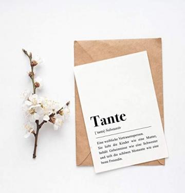 Tante Definition: Grußkarte mit Umschlag - 2