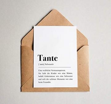 Tante Definition: Grußkarte mit Umschlag - 3