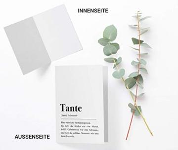 Tante Definition: Grußkarte mit Umschlag - 4
