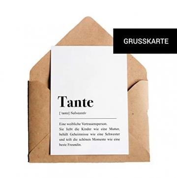 Tante Definition: Grußkarte mit Umschlag - 5