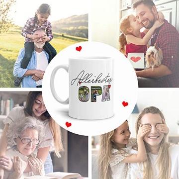 Tassendruck Fototasse mit Spruch - Allerbester Opa - zum Selbst gestalten mit Foto-Collage für 3 Fotos, Weiß, 300 ml - 2