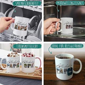 Tassendruck Fototasse mit Spruch - Allerbester Opa - zum Selbst gestalten mit Foto-Collage für 3 Fotos, Weiß, 300 ml - 5