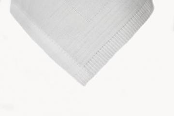 TextilDepot24 Damast Tischdecke weiß mit Atlaskante bei 95°C waschbar 130 x 250 cm 100% Baumwolle - 3