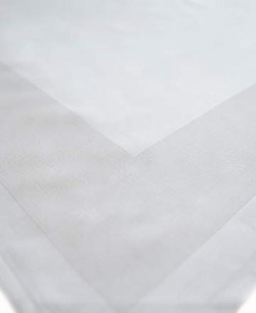 TextilDepot24 Damast Tischdecke weiß mit Atlaskante bei 95°C waschbar 130 x 250 cm 100% Baumwolle - 4