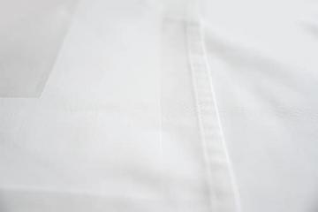 TextilDepot24 Damast Tischdecke weiß mit Atlaskante bei 95°C waschbar 130 x 250 cm 100% Baumwolle - 6
