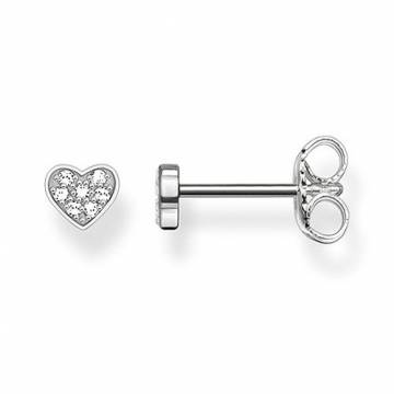 THOMAS SABO Damen-Ohrringe Ohrstecker 925 Sterling Silber Diamant Pavè weiß 0,4 cm D_H0003-725-14 - 1