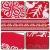 Tischläufer, rot Leinen Weihnachten Tischläufer Tischdecke mit weiss Rentier muster, rutschfeste lang Weihnachtstischdecke Weihnachtsläufer für Tisch Esstische Dekoration 12 x 108 Zoll - 3