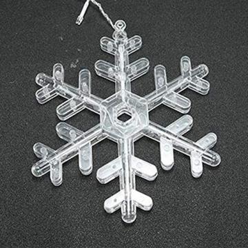 Towinle LED Lichterkette Sternen Schneeflocke Lichtervorhang 138 LEDs Led Schneeflocke Sternenvorhang mit Netzstecker 8 Lichtermodi Led Kette Weihnachten Party Fester Deko - 9