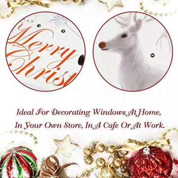 UMIPUBO Weihnachten Aufkleber Fenster Dekoration Weißer großer Elch Fensteraufkleber Schneeflocke Fensterbild PVC Entfernbarer Elektrostatischer Aufkleber Weihnachtssticker (Weihnachten) - 4