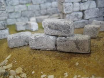 Unbekannt 250 rechteckige Ruinen-Bausteine für Krippenbau, LGB Gartenbahn etc. - 5