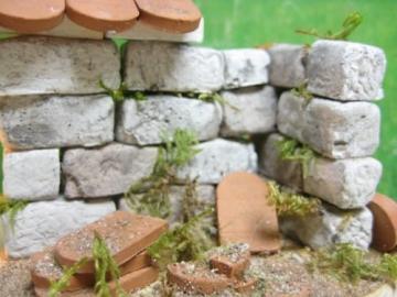 Unbekannt 250 rechteckige Ruinen-Bausteine für Krippenbau, LGB Gartenbahn etc. - 9