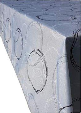 Valia Home Tischdecke Tischtuch Tafeldecke schmutzabweisend wasserabweisend Lotuseffekt pflegeleicht eckig für drinnen und draußen 140 x 240 cm grau - 1