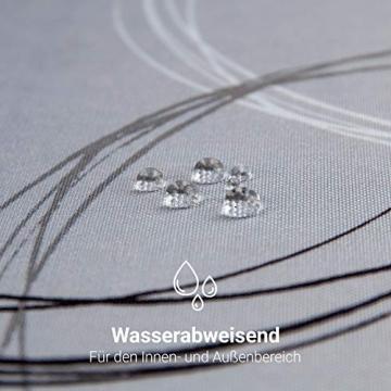 Valia Home Tischdecke Tischtuch Tafeldecke schmutzabweisend wasserabweisend Lotuseffekt pflegeleicht eckig für drinnen und draußen 140 x 240 cm grau - 4