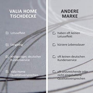 Valia Home Tischdecke Tischtuch Tafeldecke schmutzabweisend wasserabweisend Lotuseffekt pflegeleicht eckig für drinnen und draußen 140 x 240 cm grau - 6