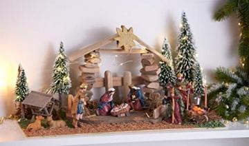 VBS Miniatur Futterkrippe ca. 7cm aus Holz Modelleisenbahn Krippe Weihnachten Modellbau - 2