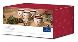 Villeroy & Boch Toy's Delight Becher Set 4tlg, Toys weiß,rot,gold Porzellan 1485858400 - 1