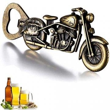 Vintage Motorrad Flaschenöffner, GOOKUURL Motorrad Bier Flaschenöffner,Metall Motorrad Flaschenöffner für Bar Party, einzigartiges Motorrad-Biergeschenk, Geschenke für Männer (Farbe Bronze) - 1
