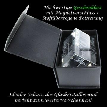 VIP-LASER 3D Glas Kristall mit Gravur I Herz aus zwei Händen I Text: Beste Tante! I Das tolle Geschenk zum Muttertag, Geburtstag oder Weihnachten - 8