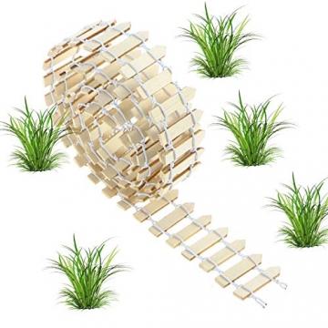VORCOOL Kleine Holzzaun Miniatur Fee Garten Kit Micro-Landschaft Zubehör Puppenhaus Decor Bonsai Terrarium Ornament (100 cm x 3 cm) - 3