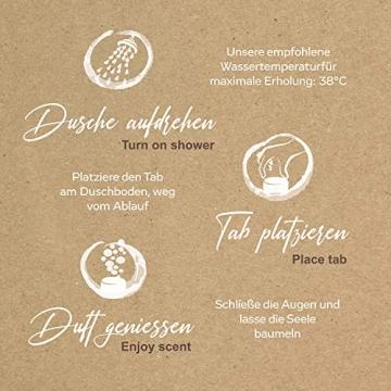 WALTZ7 Original Duschbomben Set, 16 Stück mit 8 Düften, Aromatherapie mit natürlichen ätherischen Ölen, Wellness Geschenkbox, Qualitätsmarke aus Österreich, Dankeschön Geschenk für Frauen - 6