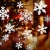 Weihnachts Schneeflocken Fensterbild Abnehmbare Fensterdeko Statisch Haftende PVC Aufkleber Winter Dekoration für Türen,Schaufenster, Vitrinen, Glasfronten - 3