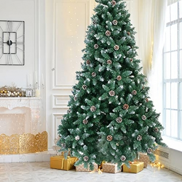 Weihnachtsbaum Künstlich 180cm / 210cm Künstlicher Weihnachtsbaum Grün Christbaum Schnellaufbau Material PVC Tannenbaum künstlich mit Metallständer für Weihnachtsdeko (Farbe B, 210cm) - 2