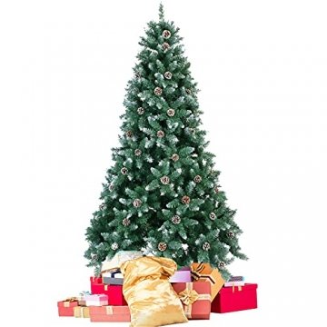 Weihnachtsbaum Künstlich 180cm / 210cm Künstlicher Weihnachtsbaum Grün Christbaum Schnellaufbau Material PVC Tannenbaum künstlich mit Metallständer für Weihnachtsdeko (Farbe B, 210cm) - 1