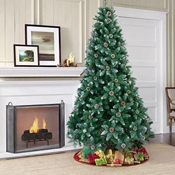 Weihnachtsbaum Künstlich 180cm / 210cm Künstlicher Weihnachtsbaum Grün Christbaum Schnellaufbau Material PVC Tannenbaum künstlich mit Metallständer für Weihnachtsdeko (Farbe B, 210cm) - 5