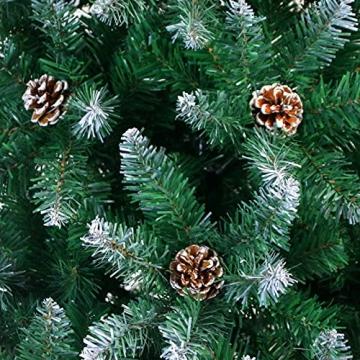 Weihnachtsbaum Künstlich 180cm / 210cm Künstlicher Weihnachtsbaum Grün Christbaum Schnellaufbau Material PVC Tannenbaum künstlich mit Metallständer für Weihnachtsdeko (Farbe B, 210cm) - 9