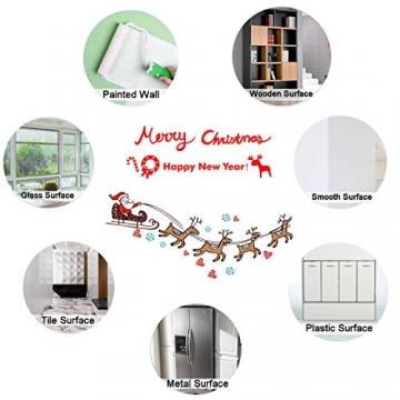 WELLXUNK Weihnachten Fenstersticker, Fensteraufkleber PVC Fensterbilder Weihnachten Fensterdeko selbstklebend Fensterfolie Weihnachtsdekoration (SR2) - 7