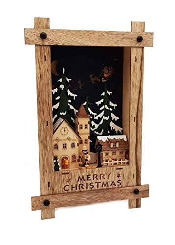 Wichtelstube-Kollektion Wandbild Weihnachten 3D Weihnachtsdeko Holz - 1