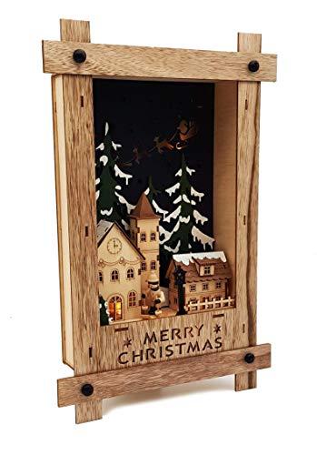 Wichtelstube-Kollektion Wandbild Weihnachten 3D Weihnachtsdeko Holz - 2