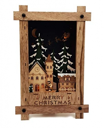 Wichtelstube-Kollektion Wandbild Weihnachten 3D Weihnachtsdeko Holz - 3