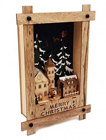 Wichtelstube-Kollektion Wandbild Weihnachten 3D Weihnachtsdeko Holz - 4