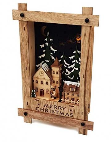 Wichtelstube-Kollektion Wandbild Weihnachten 3D Weihnachtsdeko Holz - 5